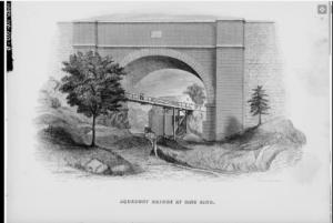 Early drawing of Aqueduct Bridge