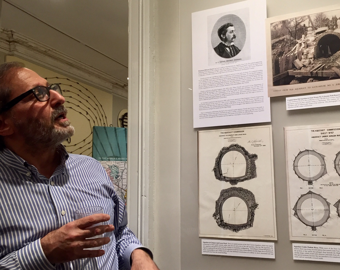 Bob Kornfeld describing early drawings