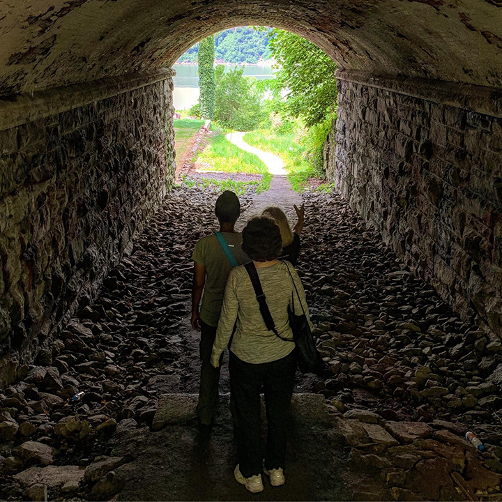 View through the tunnel at Lenoir