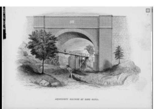 Early drawing of Aqueduct Bridge
