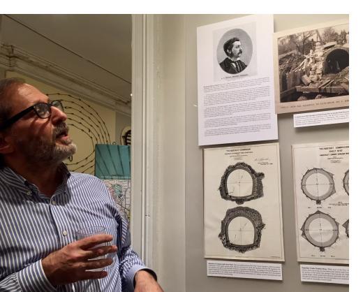 Bob Kornfeld describing early drawings